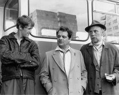 Rodney (Nicholas Lyndhurst), Del Boy (David Jason) and Grandad (Leonard Pearce), Only Fools and Horses...
