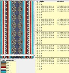 54 tarjetas, 7 colores, repite cada 8 movimientos // sed_449 diseñado en GTT༺❁