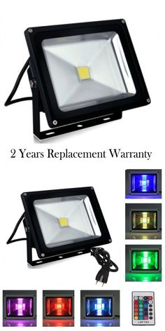 Outdoor Security and Floodlights 183393: 20W 30W 50W 100W Led Flood Light Cool White And Rgb High Power Outdoor Spotlights -> BUY IT NOW ONLY: $35 on eBay!