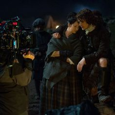 Cuddle up! It's another cold night in Scotland. #BehindTheScenes #Outlander
