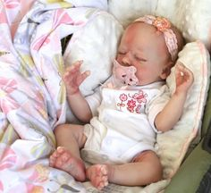 Reborn Baby GIRL Sleeping Clyde Asleep Realborn with COA -So Real! Newborn Doll