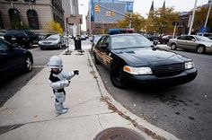 Robocop Halloween Costume... Part kid, part machine... All cop!