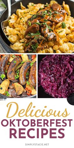 Delicious Oktoberfest Recipes - Have your own Oktoberfest celebration at home with these delicious German recipes!