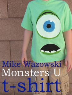 Monsters U t shirt - 30 Minute Crafts - Fabric paint. A fun tshirt to make before seeing the movie, or hitting the parks!