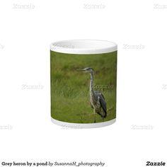 Grey heron by a pond 20 oz large ceramic coffee mug Grey Mugs, Grey Heron, Custom Mugs, Pond, Tea Cups, Coffee Mugs, Ceramics, Shop, Ceramica