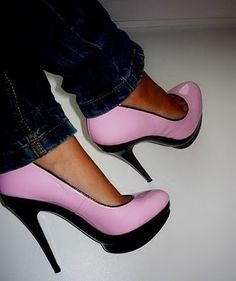 pink and black..... :( uhhh! I can't wait till I can wear heals again!!!!