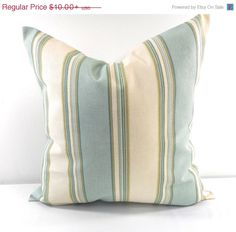 ON SALE Stripes  Pillow Cover. Sham Pillow by TwistedBobbinDesigns
