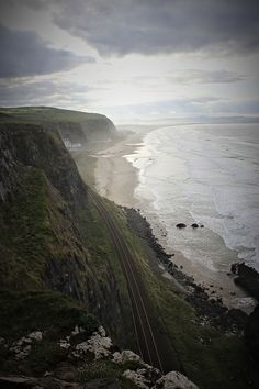 Just to see a coast line without million dollar houses is a dream of mine.  Mussenden, Northern Ireland.