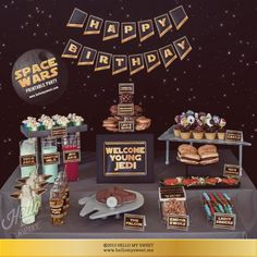 Star Wars Party Set INSTANT DOWNLOAD Birthday by HelloMySweet