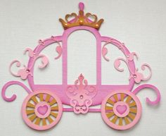 Items similar to made to order pink princess carriage paper piecing by my tear bears by Kira on Etsy Foam Crafts, Diy And Crafts, Crafts For Kids, Paper Crafts, Disney Scrapbook, Scrapbook Paper, Paper Piecing, Princess Carriage, Cinderella Carriage