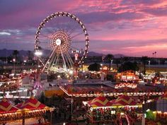 Arizona State Fair. It's always a treat driving by and seeing the ferris wheel from the I-10