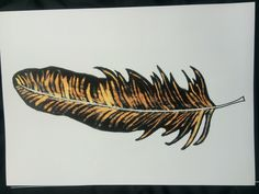 Bleach and ink drawing of a feather Bleach Drawing, Bleach Art, Organic Structure, Natural Forms, Ink Art, Art Techniques, Craft, Light In The Dark, Color Mixing