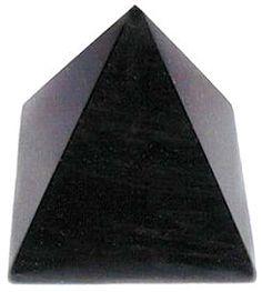 Black Obsidian Gemstone Pyramid - pagan wiccan witchcraft magick ritual supplies
