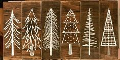 Diy christmas paintings on wood 36 ideas DIY Wood Signs Christmas DIY Ideas paintings Wood Wood Christmas Tree, Christmas Tree Painting, Rustic Christmas, Christmas Art, Winter Christmas, Christmas Decorations, Christmas Ornaments, Christmas Ideas, Diy Cadeau Noel
