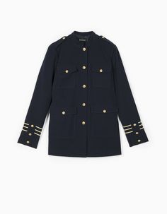 At Stradivarius you'll find 1 Long military-style dress coat for just 59.99 United Kingdom . Visit now to discover this and more Jackets.