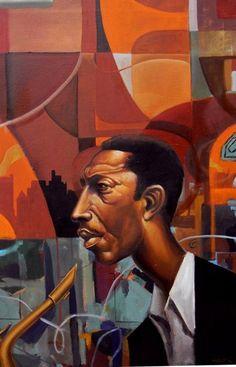 John Coltrane by Frank Morrison African American Artwork, African Art, Action Painting, Illustrations, Illustration Art, Frank Morrison Art, Jazz Art, Black Artwork, Guache