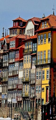 Buildings in Porto, Portugal ('Windows' by Bartolomé Martínez Jover) Places Around The World, The Places Youll Go, Places To See, Around The Worlds, Spain And Portugal, Portugal Travel, Wonderful Places, Beautiful Places, Magic Places