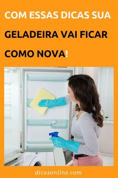 Limpar Geladeira - Como Fazer Passo a Passo Cleaning Hacks, Household, Sweet Home, Diy Crafts, Storage, Tips, Home Decor, Diabetes, Nova