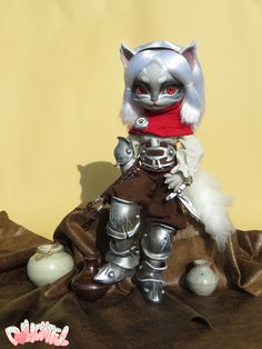 Hujoo Freya Custom by Dollightful. Doll armor, clothes, wig and face up!