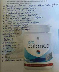 Asit baz dengesi için ideal.Probalance ile sağlıklı kilo verin.