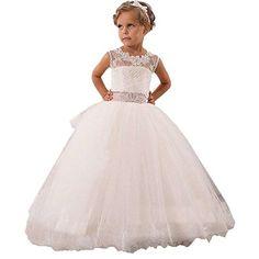 337e2d5d398 Vintage White Ivory Flower Girl Dresses for Wedding Event PFD035