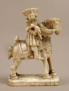 Chess Piece in the Form of a KnightDate: ca. 1500 Culture: Netherlandish Medium: Elephant ivory Dimensions: Overall: 2 13/16 x 1 7/8 x 15/16 in. (7.2 x 4.8 x 2.4 cm)
