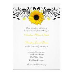Sunflower invitation (3-D) :)