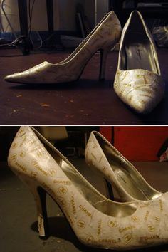 How clever is this cookie?  Sashafantastique  is a member of craftster.org .  Sasha refashioned a pair of her white pointed heels into a pai...