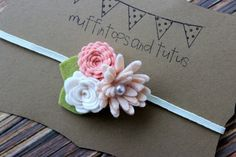 Felt flower headband   newborn/baby/toddler by muffintopsandtutus