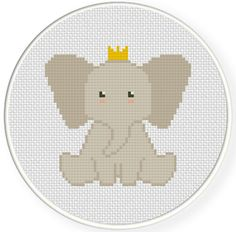 FREE Elephant Prince Cross Stitch Pattern
