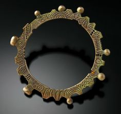 Awesome bronze bangle from Barbara Becker Simon.