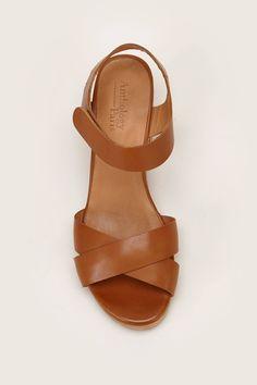 Sandales en cuir Zadig camel zoom