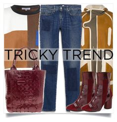 """Tricky trend"" by madeinmalaysia ❤ liked on Polyvore featuring Chloé, Glamorous, Tommy Hilfiger, Nancy Gonzalez, Topshop and patchworkdenim"
