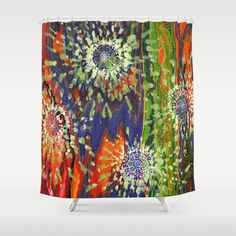 Induced Cosmic Revelations (Four Dreams, In Mutating Cycle) Shower Curtain, Jodi Bee. Society 6. $68.