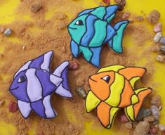 Beach Decorated Cookies   Tropical Fish Cookie Favors