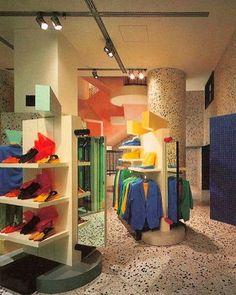 Esprit Store Interior by Ettore Sottsass. 1985  #ettoresottsass...