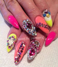 Day 169: Bold and Bedazzled Nail Art - - NAILS Magazine