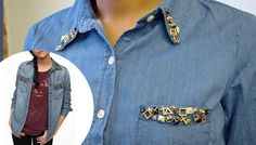 DIY Project: A Studded Chambray Shirt For $40 Or Less