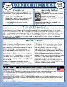 Lord of the Flies Novel Unit Graphic Organizer - newsletter format - Common Core Gcse English Literature, High School Literature, British Literature, Teaching Literature, Teaching Reading, Learning, Teaching Resources, Teaching Ideas, Newsletter Format
