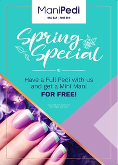 It's time to finally put away those boots, and slip into some gorgeous sandals. To celebrate, we are running a Spring Special at our Cavendish store. Simply book a Full Pedi with us, and you'll receive a Mini Mani FOR FREE! This is available for the month of September 2018 only, so call us on 021 671 3944 to make your reservation now. #ManiPedi #Pedicure #manicure