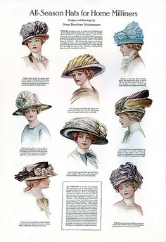 1911 - Hats by clotho98, via Flickr