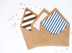 25 A7 Custom Envelope Liners by MeredithSantucci on Etsy, $33.00