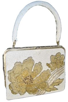 2711a280f777 Other Evening Beaded White And Gold Clutch. Get the trendiest Clutch of the  season!