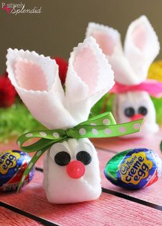 Home craft ideas craft ideas sell markets on easy craft ideas an easy easter craft idea for how to make cadbury creme egg bunnies with felt negle Images