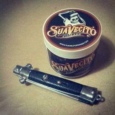 Obat ganteng, Pomade Suavecito+switch blade comb.