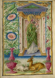 Taddeo Crivelli, Saint Nicholas. Gualenghi-D'Este Hours, 1469 ca. Los Angeles, The J. Paul Getty Museum, ms. Ludwig IX. 13, fol. 178v.