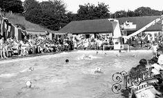 Swimming Pool c1955, Barnehurst Martens Grove Lido, many a summer day spent here. Now gone.