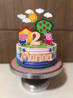 Tortas Peppa Pig, Bolo Da Peppa Pig, Peppa Pig Teddy, Peppa Pig Birthday Cake, Pig Party, Baby Party, Peppa Pig House, Aniversario Peppa Pig, Birthday Decorations