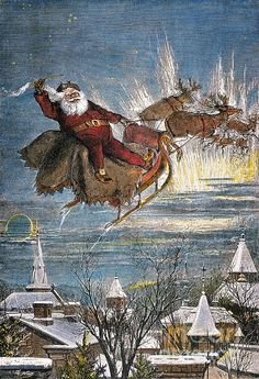 THOMAS NAST: SANTA CLAUS. 'Merry Christmas to all, and to all a good night.' Engraving by Thomas Nast. Granger