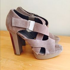 Calvin Klein sexy shoes! 100% real suede shoes! Taupe colored! In excellent condition! Barely worn! NOT Zara brand!!! Listed for promo Zara Shoes Heels